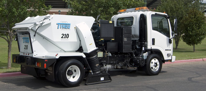 power sweeping, street sweeping, parking lot cleaning