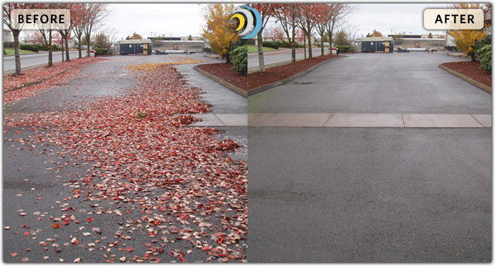 Power sweeping and street sweeping